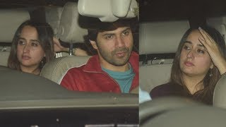 Varun Dhawan Spotted with Girlfriend Natasha Dalal for Late Night Movie
