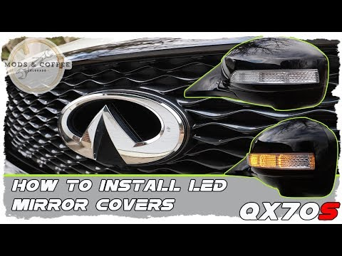 How To Install LED Mirror Covers Infiniti QX70 FX50 FX37 FX35 2009-2017