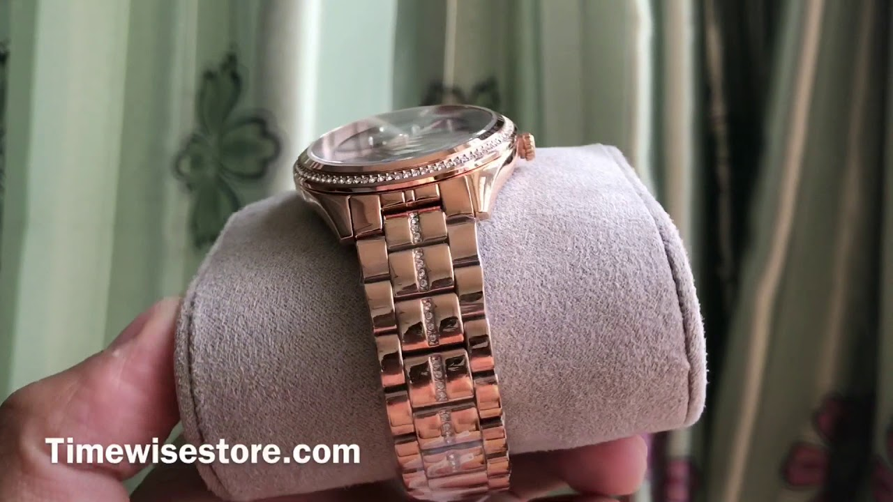531af6af8fd8 (Review Đồng Hồ ) TIMEWISE   MICHAEL KORS LAURYN ROSE GOLD-TONE THREE-HAND  WATCH MK3723 38MM