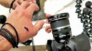 broke my camera, broke my hand