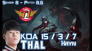 SKT T1 Thal KAYN vs XIN ZHAO Jungle - Patch 8.6 KR Ranked