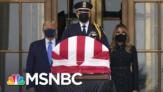 'Vote Him Out!': Protesters Boo Trump During Visit To Ruth Bader Ginsburg's Casket | MSNBC