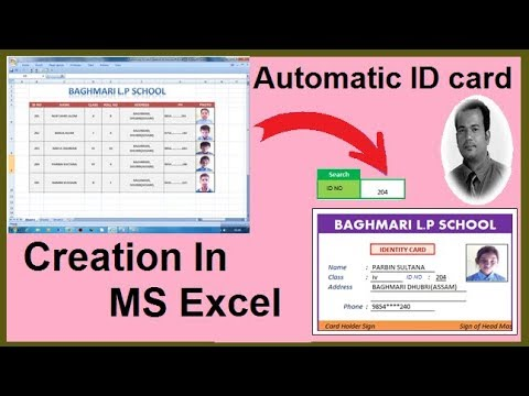 Automatic ID card creation in Microsoft Excel step by step - YouTube