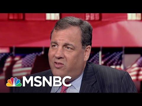 Chris Christie On Donald Trump Debate Prep And Vladimir Putin Comments   The 11th Hour   MSNBC
