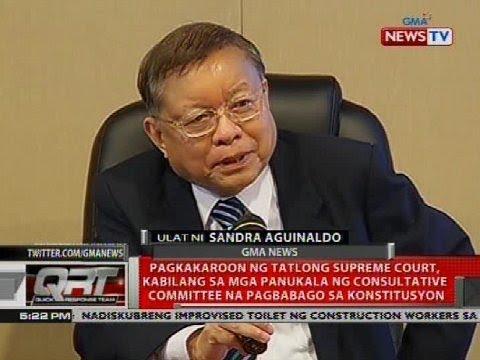 Pagkakaroon ng 3 SC, kabilang sa mga panukala ng consultative committee na pagbabago sa konstitusyon