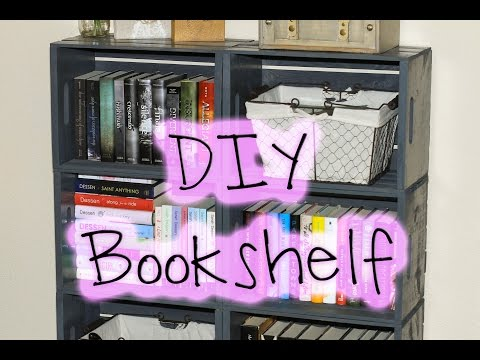 DIY EASY WOODEN CRATE BOOKSHELF