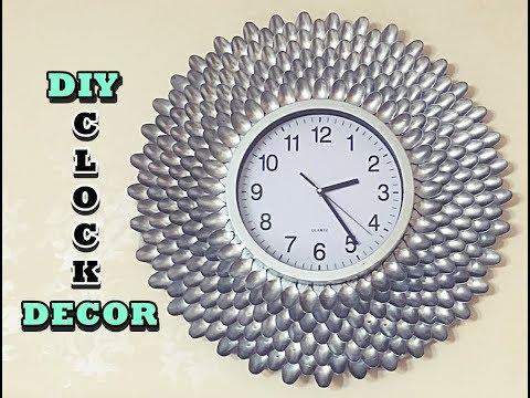 DIY/Clock Decor/Spoon Craft/Craft Video