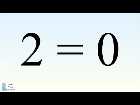 """""""Prove"""" 2 = 0 Using Square Roots. Can You Find The Mistake?"""
