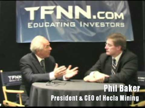 Hecla Mining CEO Phil Baker speaks with Tom O'Brien of TFNN