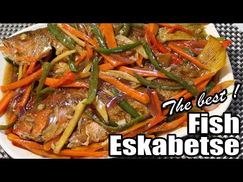 The Tastiest Sweet And Sour Fish Escabeche | How To Cook Sweet And Sour Fish Eskabetse