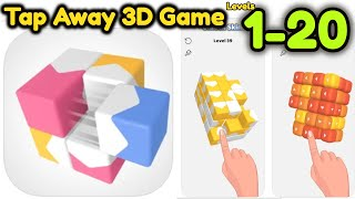 Tap Away 3D Game All Levels 1 - 20 Gameplay Walkthrough | (IOS - Android) screenshot 2