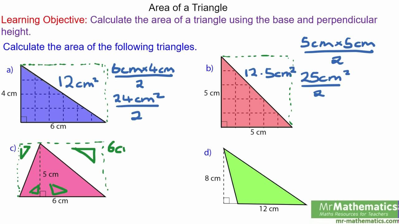 How to find the area of a triangle youtube how to find the area of a triangle ccuart Gallery