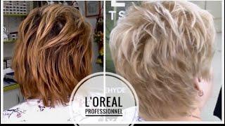 Осветление волос красителем L