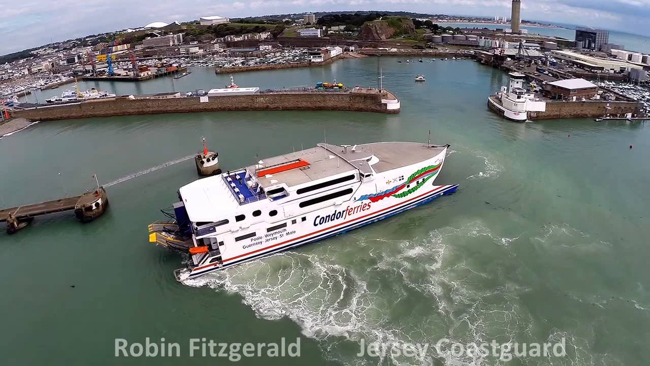 Condor Rapide Arriving In St Helier 23 05 14 Youtube