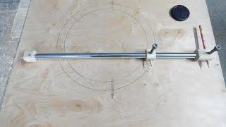 Самодельный циркуль для больших радиусов.Homemade compass for large radii