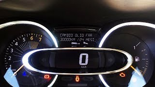 Renault Clio 4 reset service reminder oil inspection