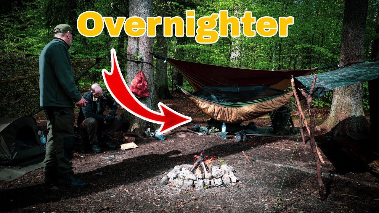 Overnighter Mit ⚠️Amazonas Hängematte⚠️BUSHCRAFT