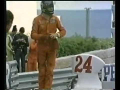 James Hunt Crash Monaco 1975