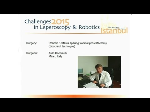 CILR 2015 - Aldo Bocciardi - Robotic radical prostatectomy