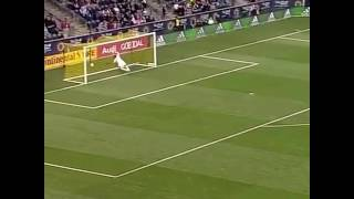 David Villa from NYC scores a goal from midfield and one the greatest MLS soccer goals ever!