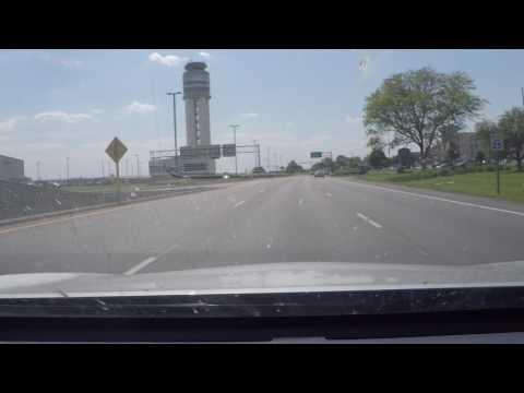Driving through John Glenn Airport, Columbus, OH