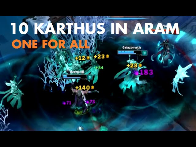 10 Karthus In Aram One For All Youtube Submitted 3 years ago by wefokinglost. 10 karthus in aram one for all youtube