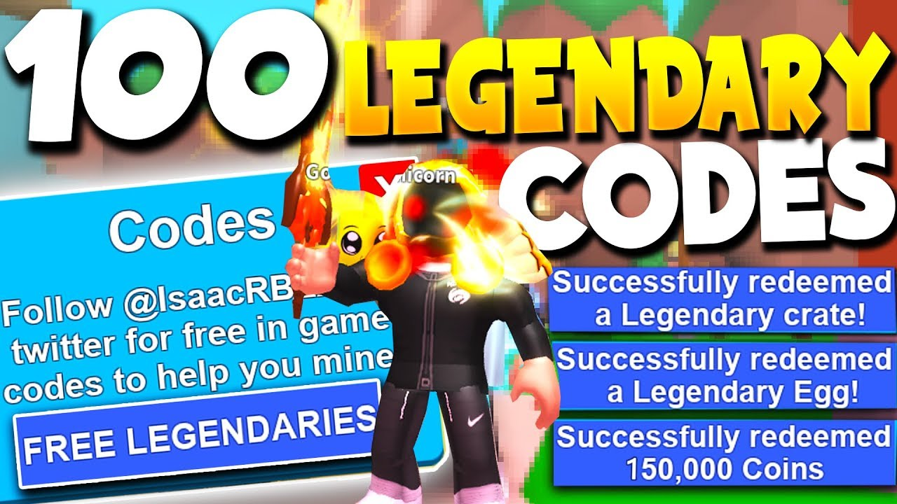 100 Legendary Mythical Roblox Mining Simulator Codes Mythical