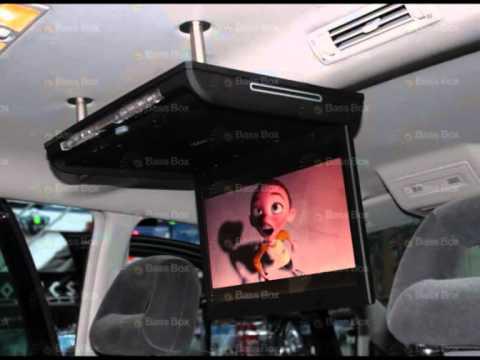 Ford Galaxy 15 Inch Roof Monitor Install Bass Box Car