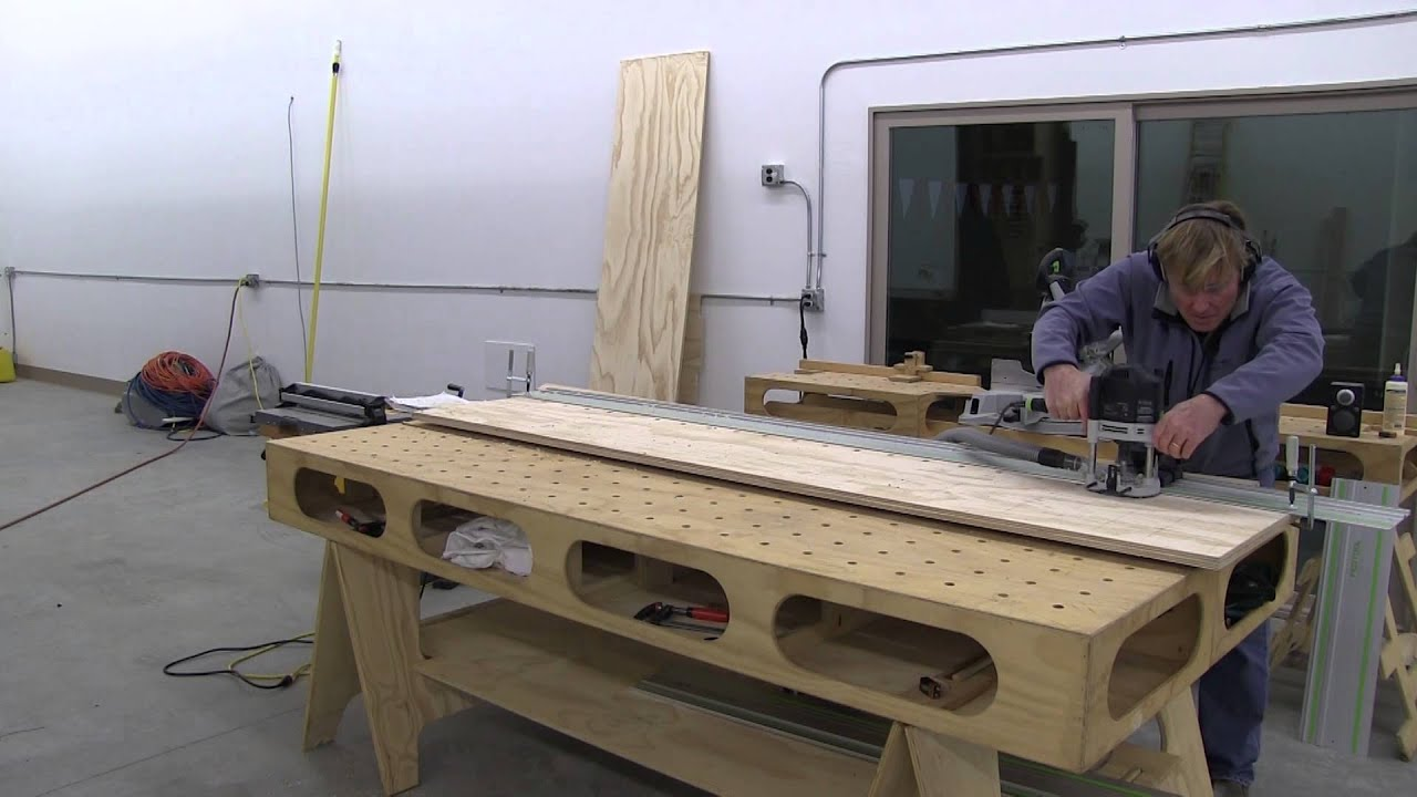 Building The Paulk Workbench Part 5 Layout And Detail Top Including Boring The Holes Youtube