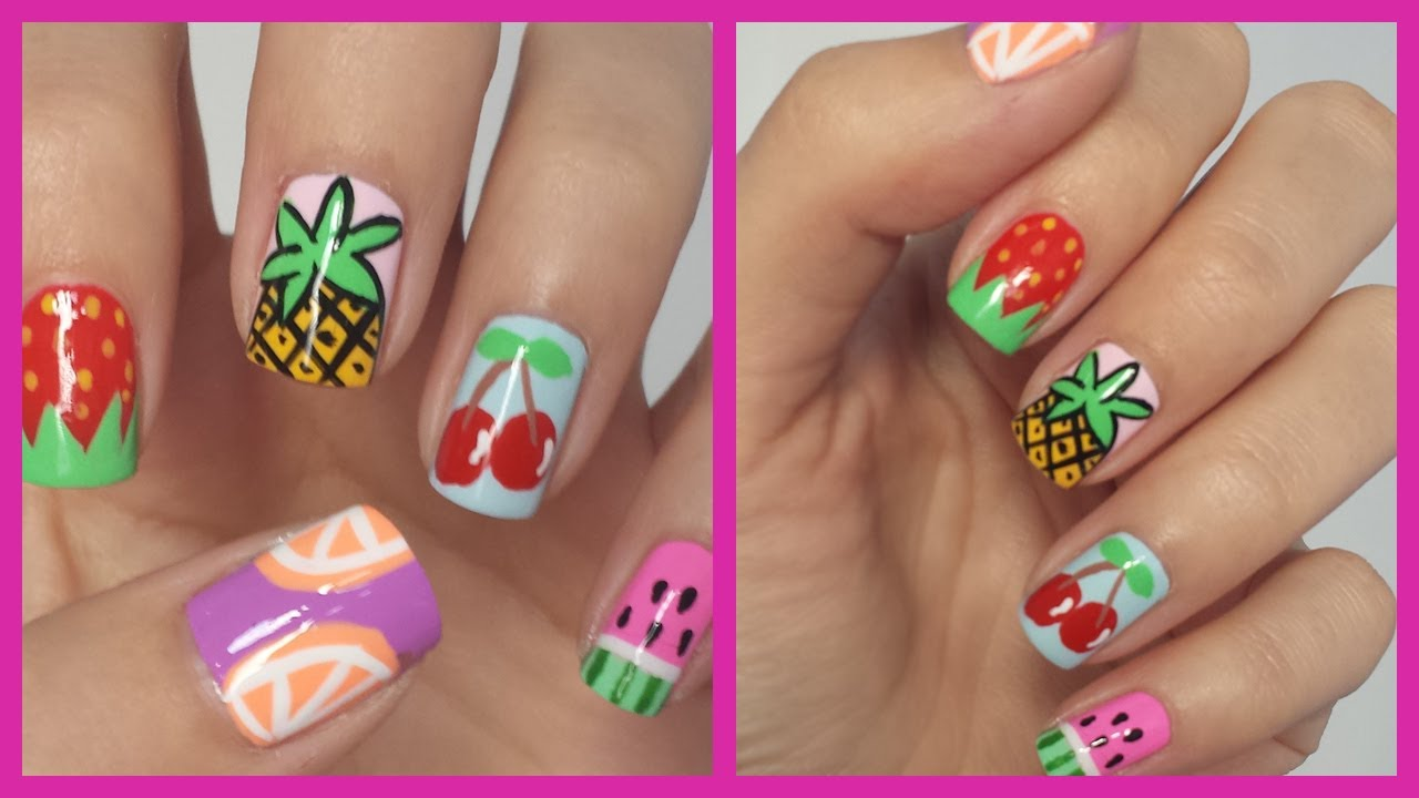 - Easy Fruit Nail Art! - YouTube