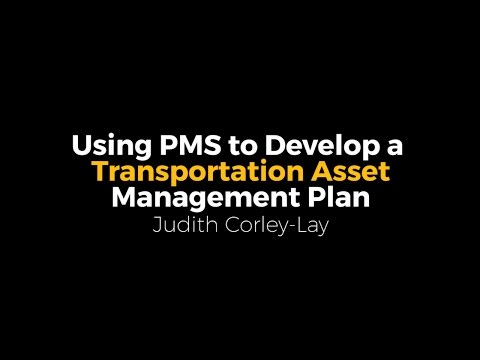 NPPC16 - Using PMS to Develop a Transportation Asset Management Plan