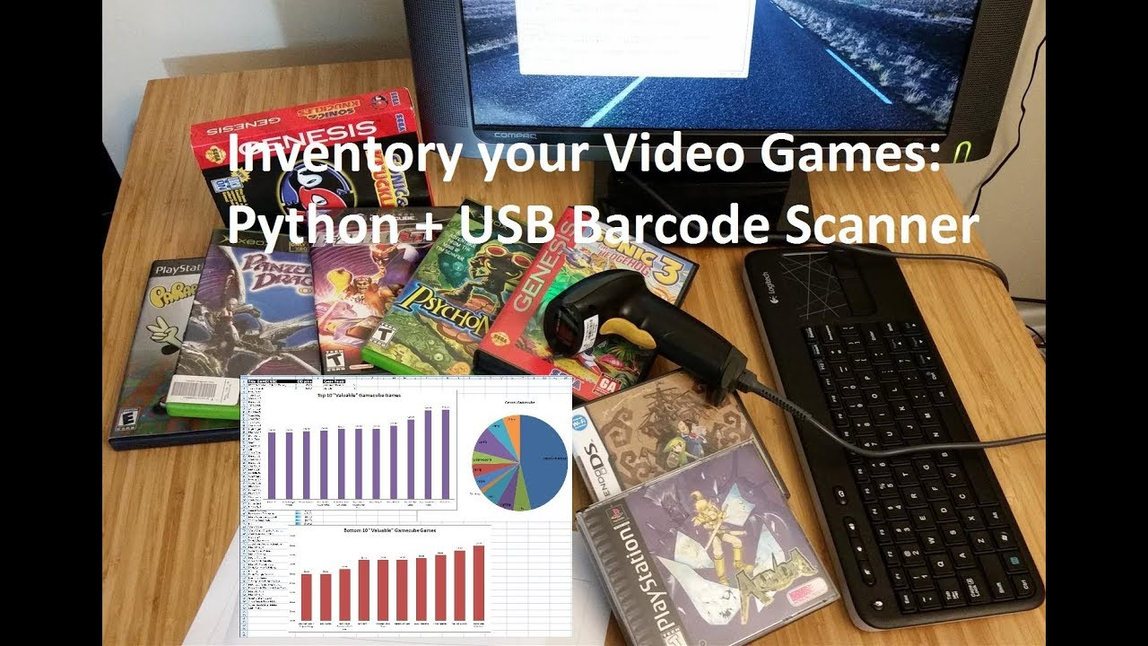 Cataloging your Video Game Collection w/ USB Barcode Scanner + Raspberry Pi