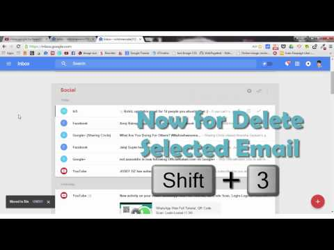 Delete Email Fast in Inbox by Gmail (inbox.google.com) with Keyboard Shortcut