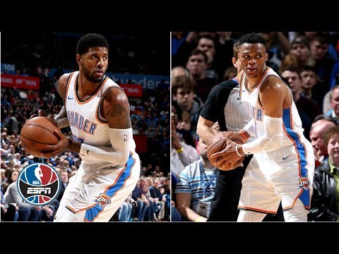 Westbrook's 10th triple-double, George's 22 points helps Thunder beat Mavericks | NBA Highlights
