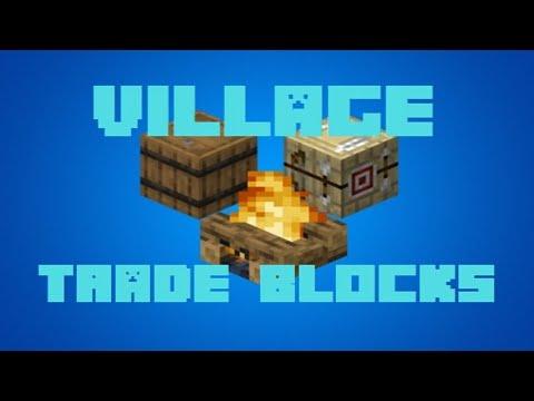 Minecraft – Crafting Recipes – Village Trade Blocks (1.14)