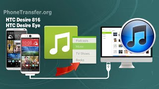 How to Sync Music, Playlist from HTC Desire 816 / Desire Eye to iTunes on Mac OS X Yosemite