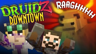 Minecraft Druidz Downtown #15 - Minotaur At The Door