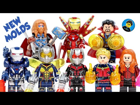 Avengers Endgame Final Battle W/ New Molds & Helmets Unofficial LEGO Minifigures