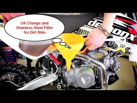 Oil Change and Stainless steel Oil Filter on a Yz250F