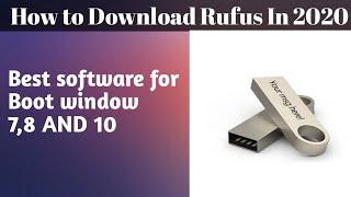 how to download rufus windows bootable || window 7 , 8 , 10 boottable || #hassanbandesha