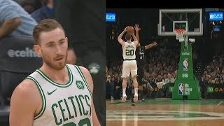 Gordon Hayward Brings Celtics Crowd To Their Feet After Taking Over Without Kyrie Irving!