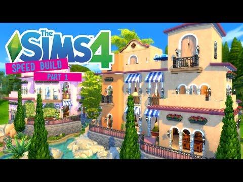 The Sims 4 -Speed Build- Portofino Villas! (Part 1/2) - No CC -