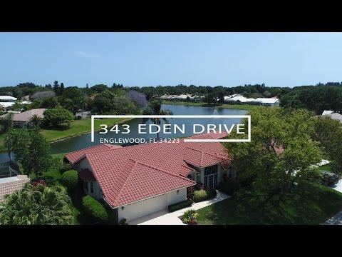 343 Eden Dr, Englewood, FL 34223 - Branded Aerial Flyover