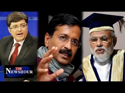 AAP Vs BJP Over PM Modi's BA & MA Degree : The Newshour Debate (9th May 2016)