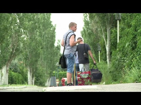 Ukraine resort town welcomes refugees, not tourists