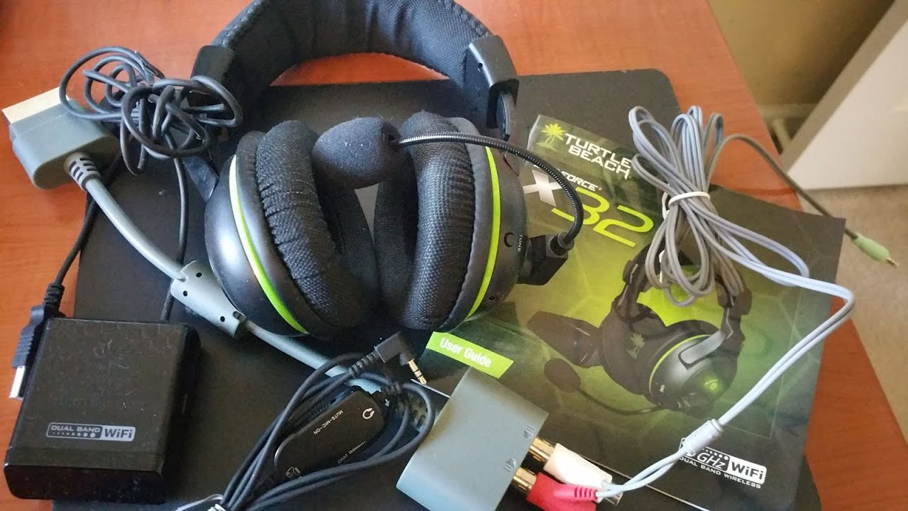 a5f47616bf7 Turtle Beach Ear Force X32 Xbox 360 Headset and Microsoft Xbox 360 Audio  Adapter UnBoxing