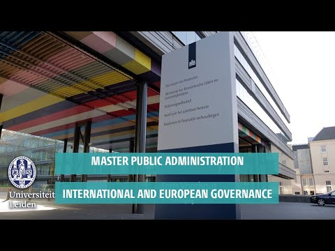 Master Public Administration: International and European Governance