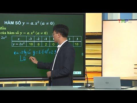 DẠY HỌC TRÊN TRUYỀN HÌNH MÔN TOÁN LỚP 9 (HÀM SỐ Y= A x X2)