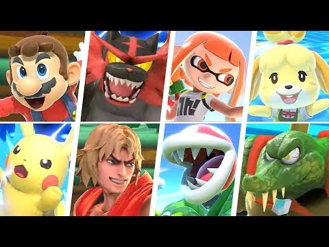 Super Smash Bros Ultimate - All 77 Characters Gameplay + Final Smashes (Final Roster)