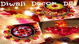 (HINDI) DIY Diwali Decor | How to make : URULI & FLOWER DIYA | Easy and Quick